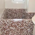 Amenajare baie cu mozaic de sticla